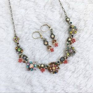 Cookie lee colorful necklace earring set
